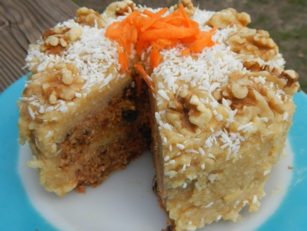 amazing, raw, vegan, grain free, paleo, carrot cake