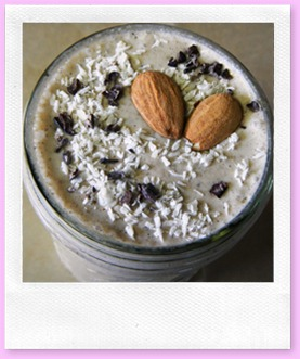 almond joy vegan smoothie raw