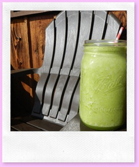 fresh pineapple basil smoothie