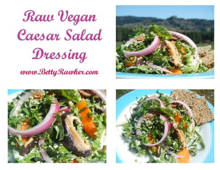 Simple Raw Vegan Caesar Salad Recipe