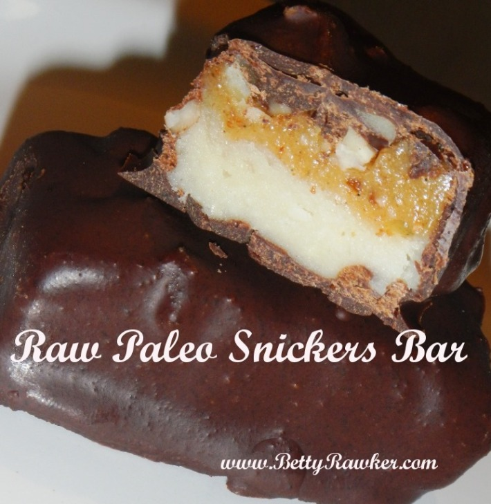 Paleo Snickers Bar - Raw - Vegan - Halloween Treat