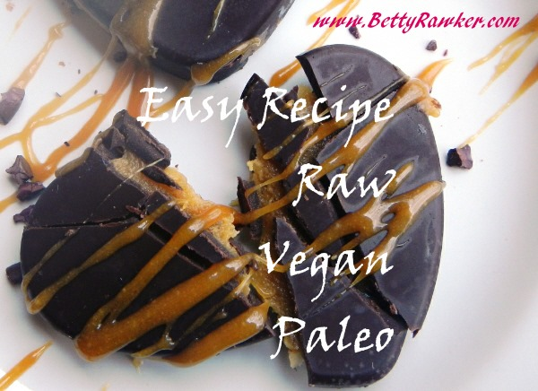 Raw Vegan Paleo EASY Caramel Chocolate Recipe!