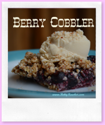 Raw Paleo Blueberry Cobbler